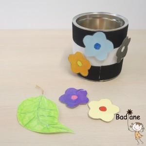 1ère boite : Enlever et remettre les fleurs.