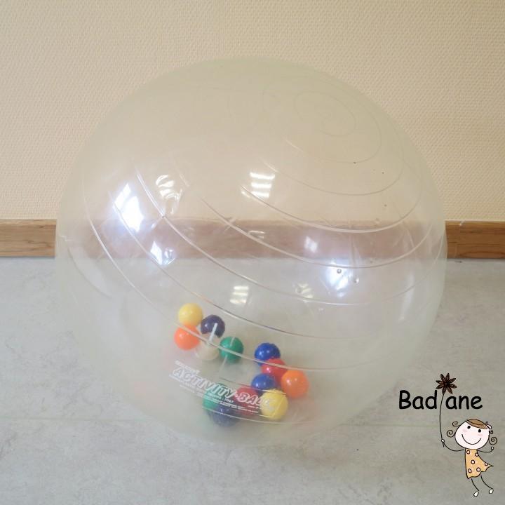 Ballon activité transparent 50cm